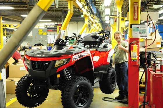 Arctic Cat Alterra 700 TRV on assembly line. Photo by ArcticInsider.com