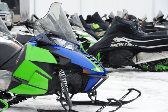 Arctic Cat engineering test sleds. Photo by ArcticInsider.com