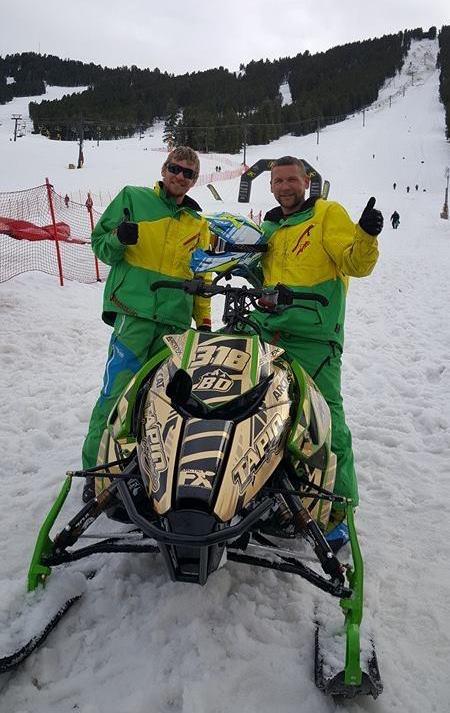 Kyle (R) and Russ Tapio, Arctic Cat hillclimber honchos!