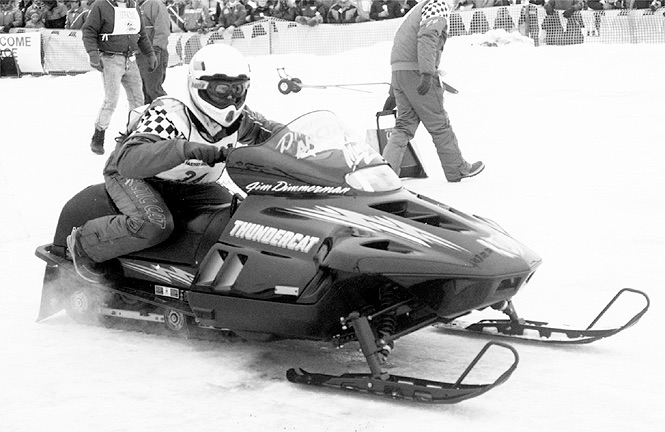 Team Arctic's Jim Dimmerman sets a speed record on the original Thundercat.