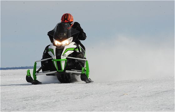 Jim Dimmerman rides the 2016 Arctic Cat 9000 turbo. Photo by ArcticInsider.com