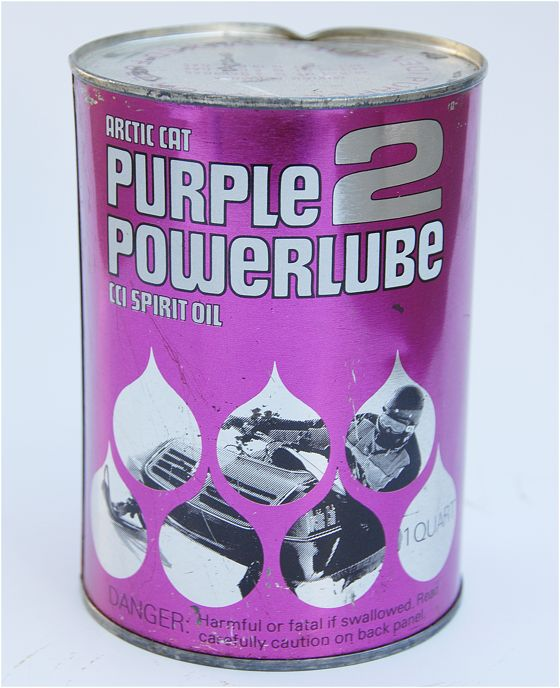 Arctic Cat Purple Power Lube, an ode to Prince.