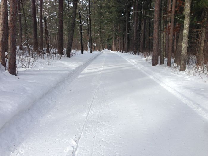Perfectly groomed snowmobile trails. Photo by ArcticInsider.com