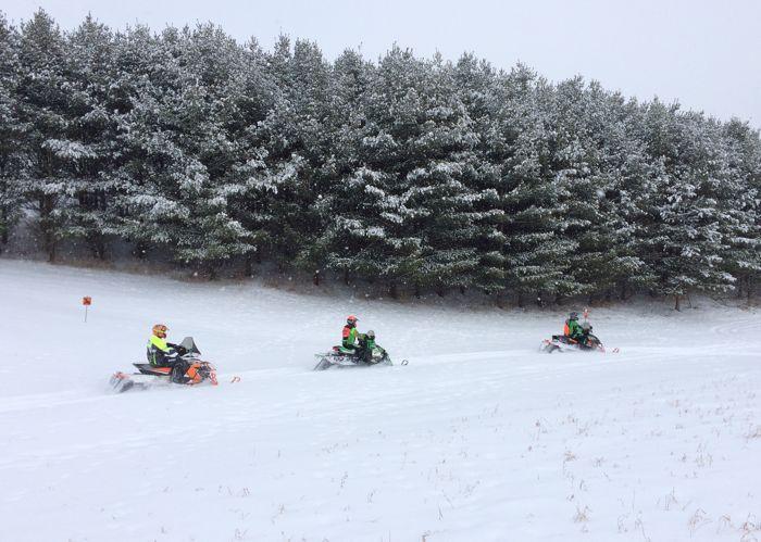 Snowmobiling in Minn. Bluff Country. Winter 2016. Photo ArcticInsider.com