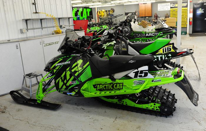 Team Arctic Wes Selby's 2016 ZR 6000R XC Race Sled. Photo ArcticInsider.com