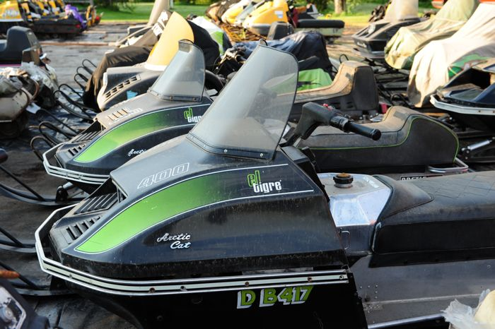 Greg Spaulding's collection of vintage sleds. Arctic Cat. Photo ArcticInsider.com