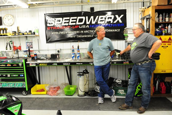 Arctic Cat's Jim Dimmerman and Greg Harris. Photo ArcticInsider.com
