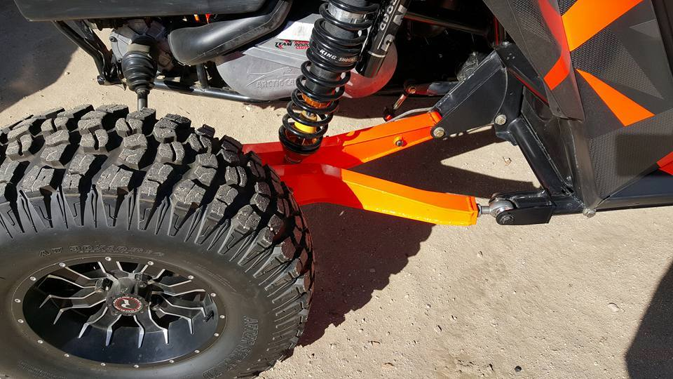 Arctic Cat Wildcat with new rear suspension.