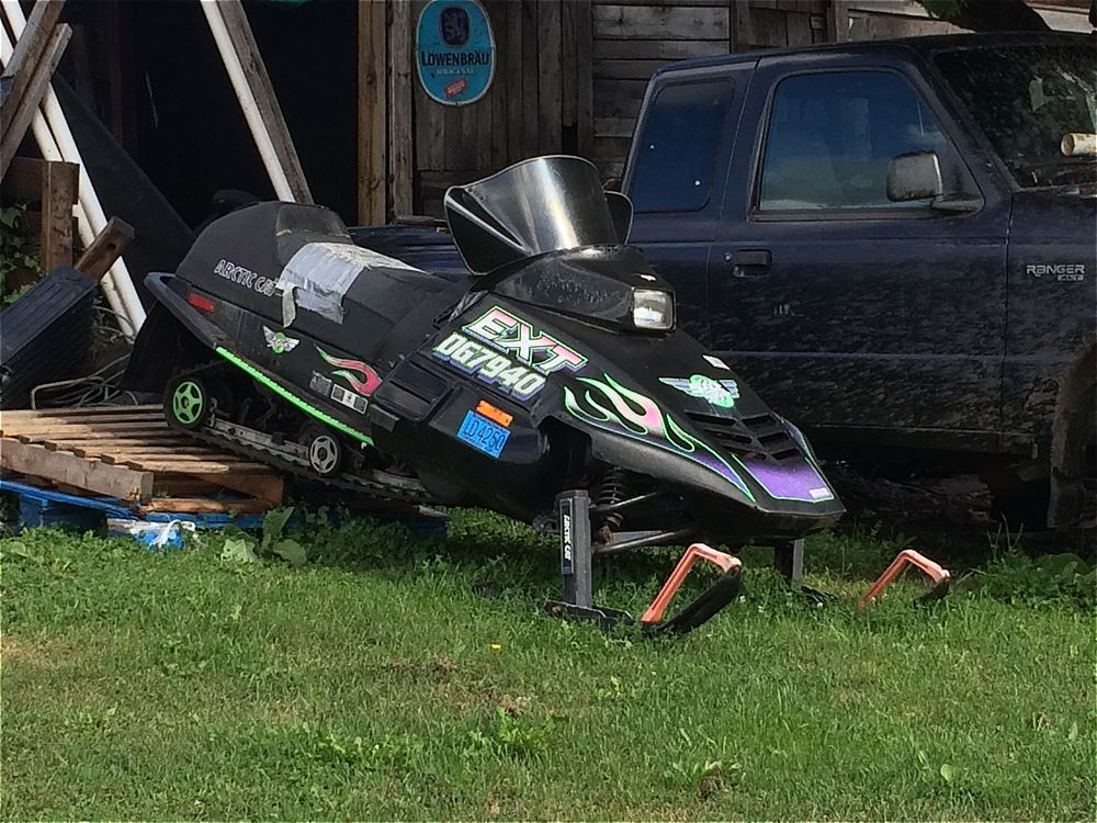 Arctic Cat EXT Special, modified with duct tape. Photo by ArcticInsider.