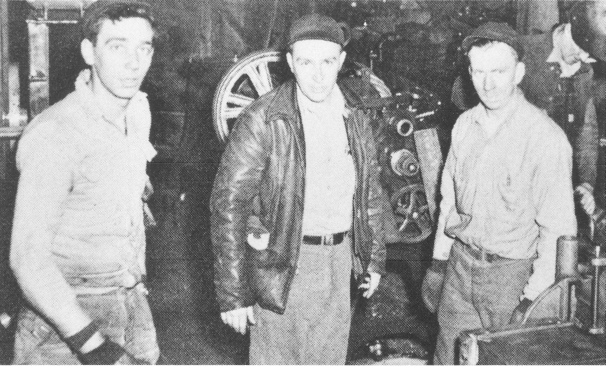 Allen Hetteen, Edgar Hetteen and David Johnson