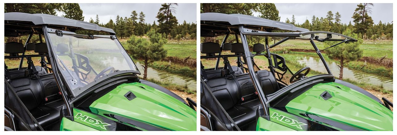 Flip-Up Polycarbonate Windshield for Arctic Cat Prowler and HDX