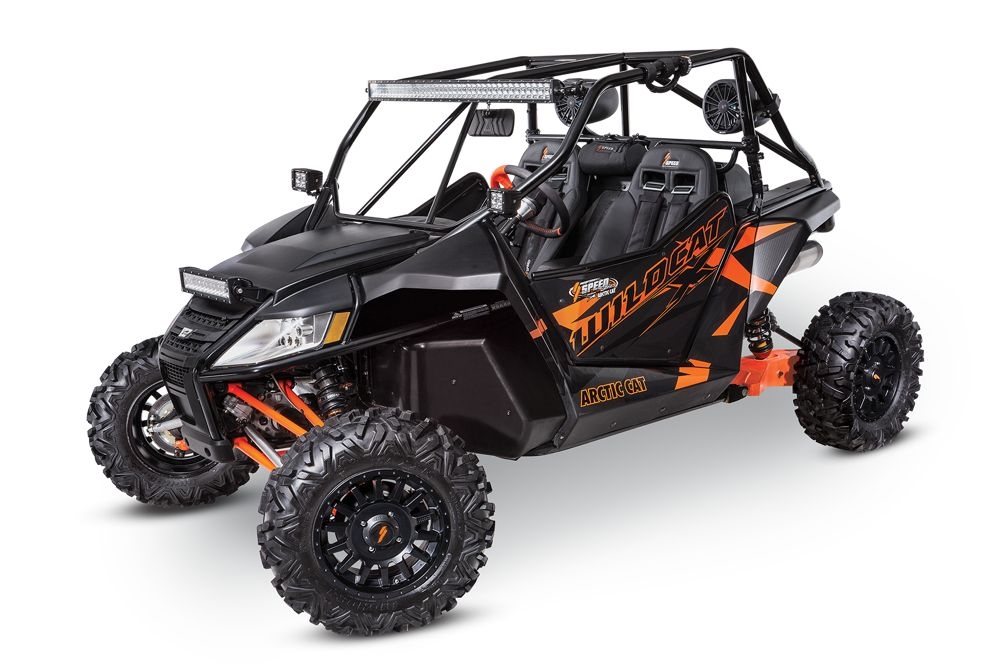 Arctic Cat Wildcat X equipped with SPEED accessories