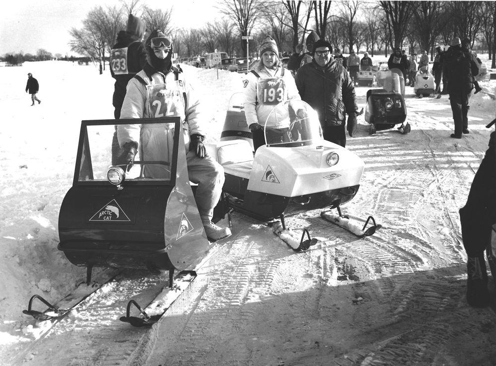 1966 Rhinelander Hodag snowmobile Marathon.