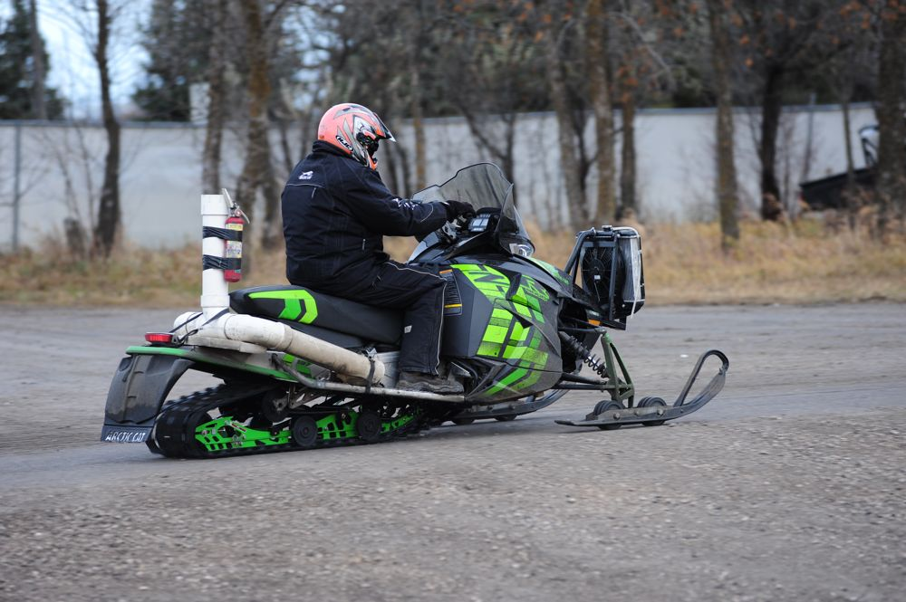 Arctic Cat ZR on the test track in TRF. Photo by ArcticInsider.com