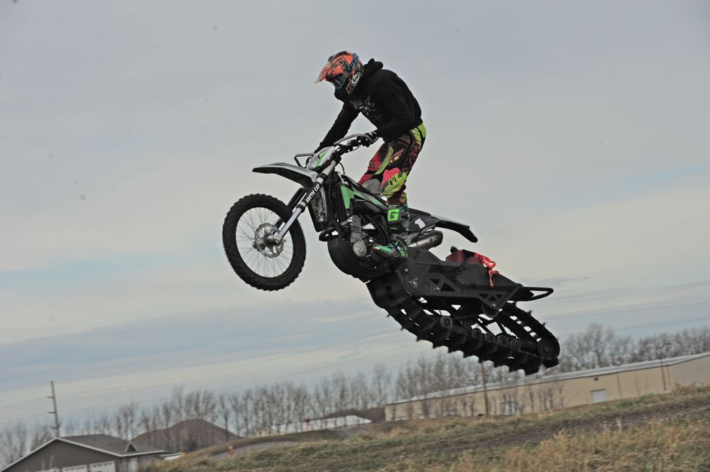 Arctic Cat SVX 450 on the test track in TRF. Photo by ArcticInsider.com