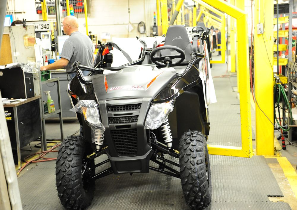Arctic Cat Wildcat on the assembly line in TRF. Photo by ArcticInsider.com
