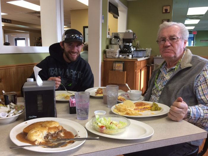 Lunch at Dee's, er, Biff's in TRF with Wes Selby and Roger Skime.