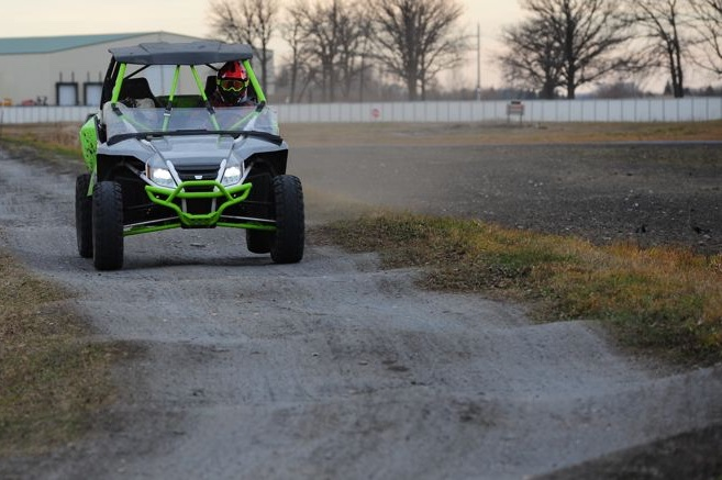Arctic Cat Wildcat X on the test track in TRF. Photo by ArcticInsider.com