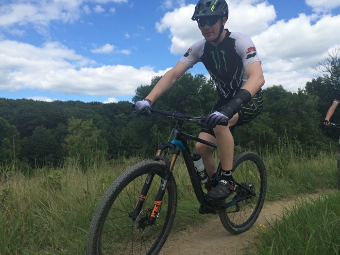 Tucker Hibbert on his mountain bike. Photo by ArcticInsider.com