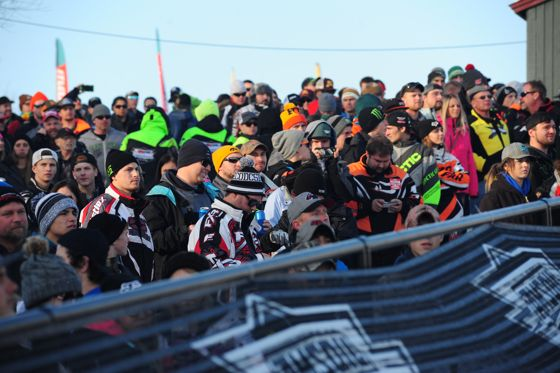 The crowd at 2016 ISOC Duluth snocross. Photo by ArcticInsider.com