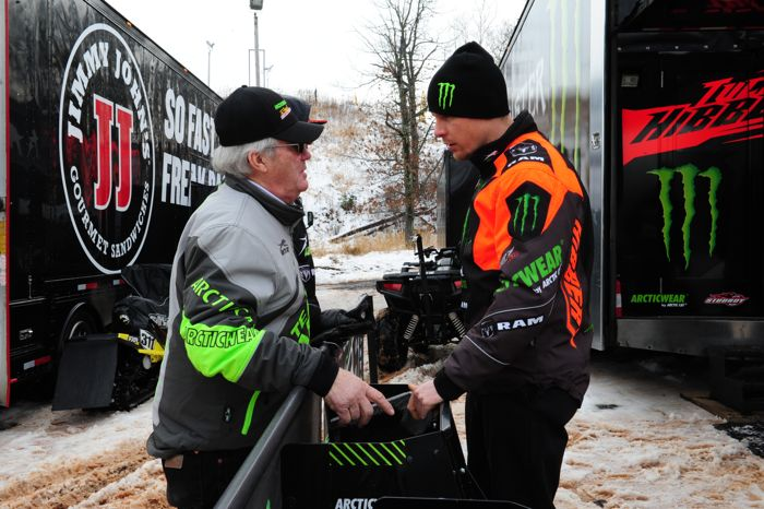 Arctic Cat's Roger Skime and Tucker Hibbert. Photo by ArcticInsider.com