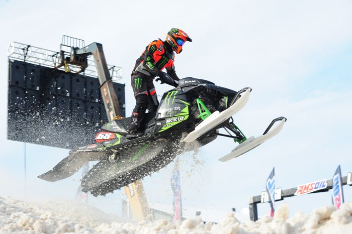 Monster Arctic Cat's Tucker Hibbert at Duluth. Photo by ArcticInsider.com