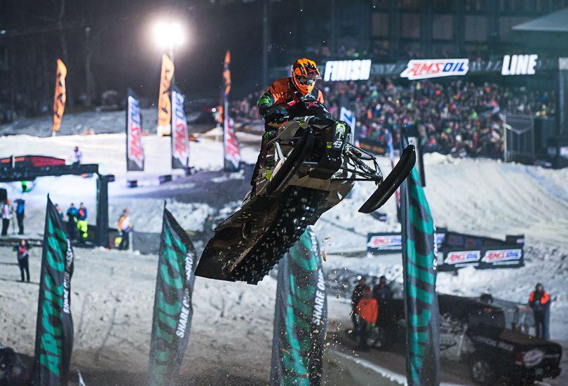Logan Christian, Team Arctic snocross racer.