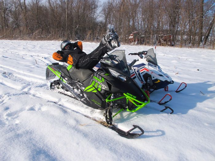 First snowmobile ride of season, on the Arctic Cat XF6000 Cross Country.