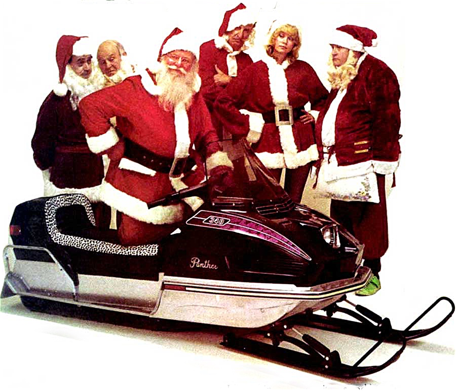 Christmas greetings from Santa and Arctic Cat