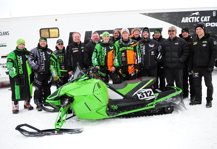 Team Arctic Cat champ Zach Herfindahl. Photo by ArcticInsider.com