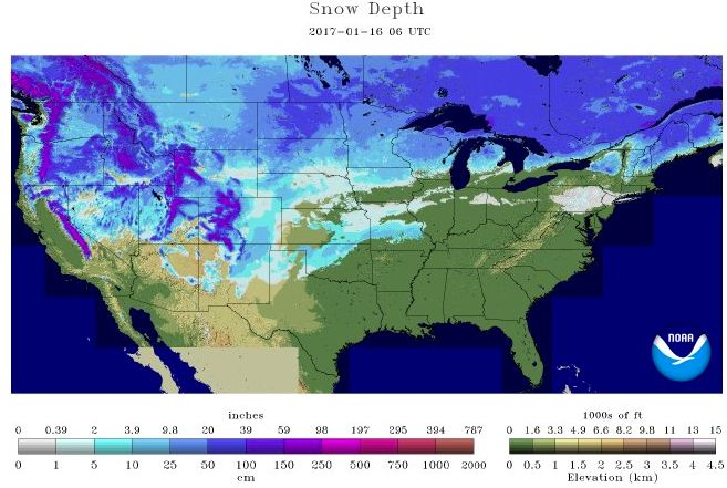 ArcticInsider snow depth 1-16-17