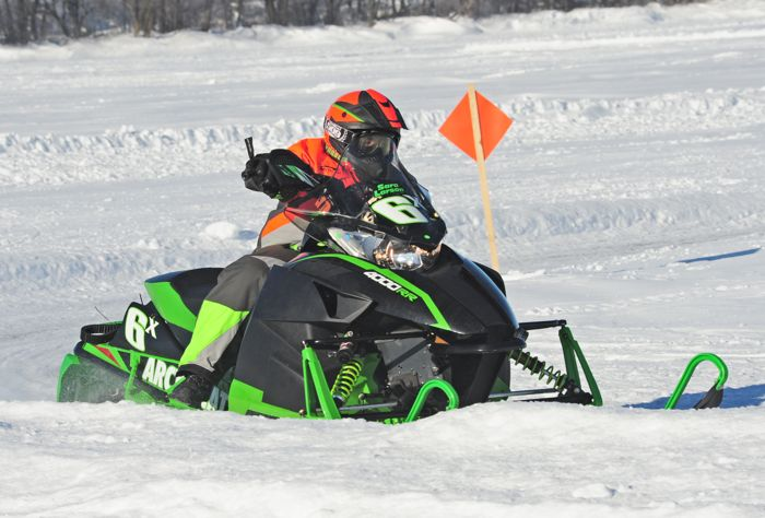 Team Arctic Cat's Sara Larson. Photo by ArcticInsider.com
