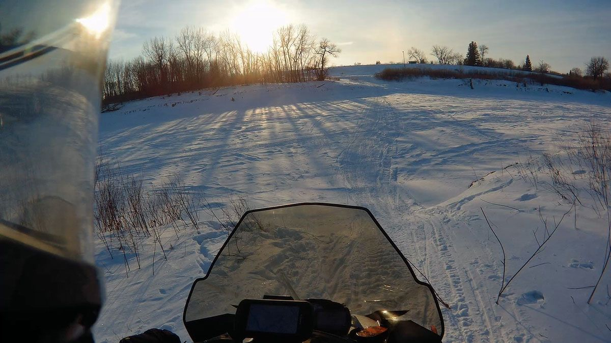 Ross Spoonland's 334-mile Arctic Cat snowmobile ride.
