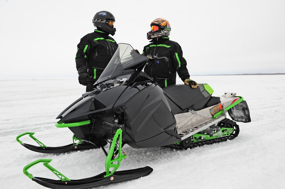 Arctic Cat engineers Greg Spaulding and Roger Skime with the C-TEC2 800. Photo: ArcticInsider.com