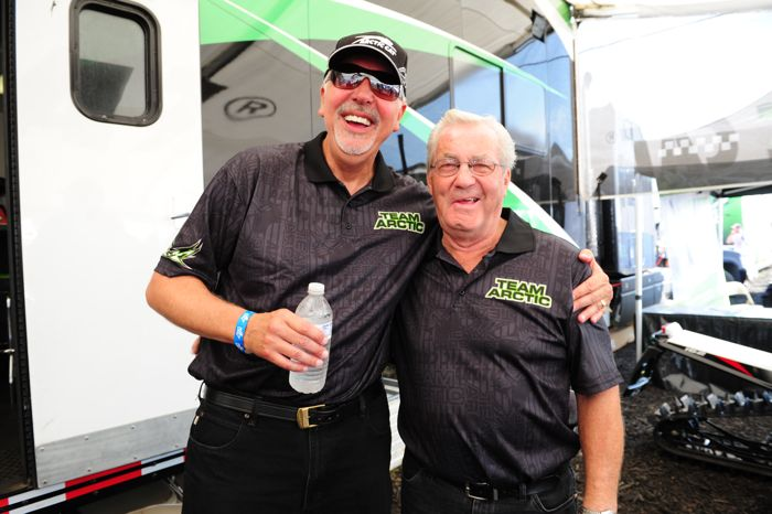 Arctic Cat's Scott Eilertson and Roger Skime. Photo by ArcticInsider.com