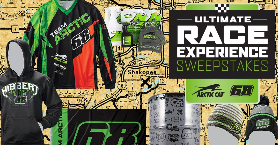 Ultimate Race Experience Sweepstakes with Arctic Cat and Tucker Hibbert