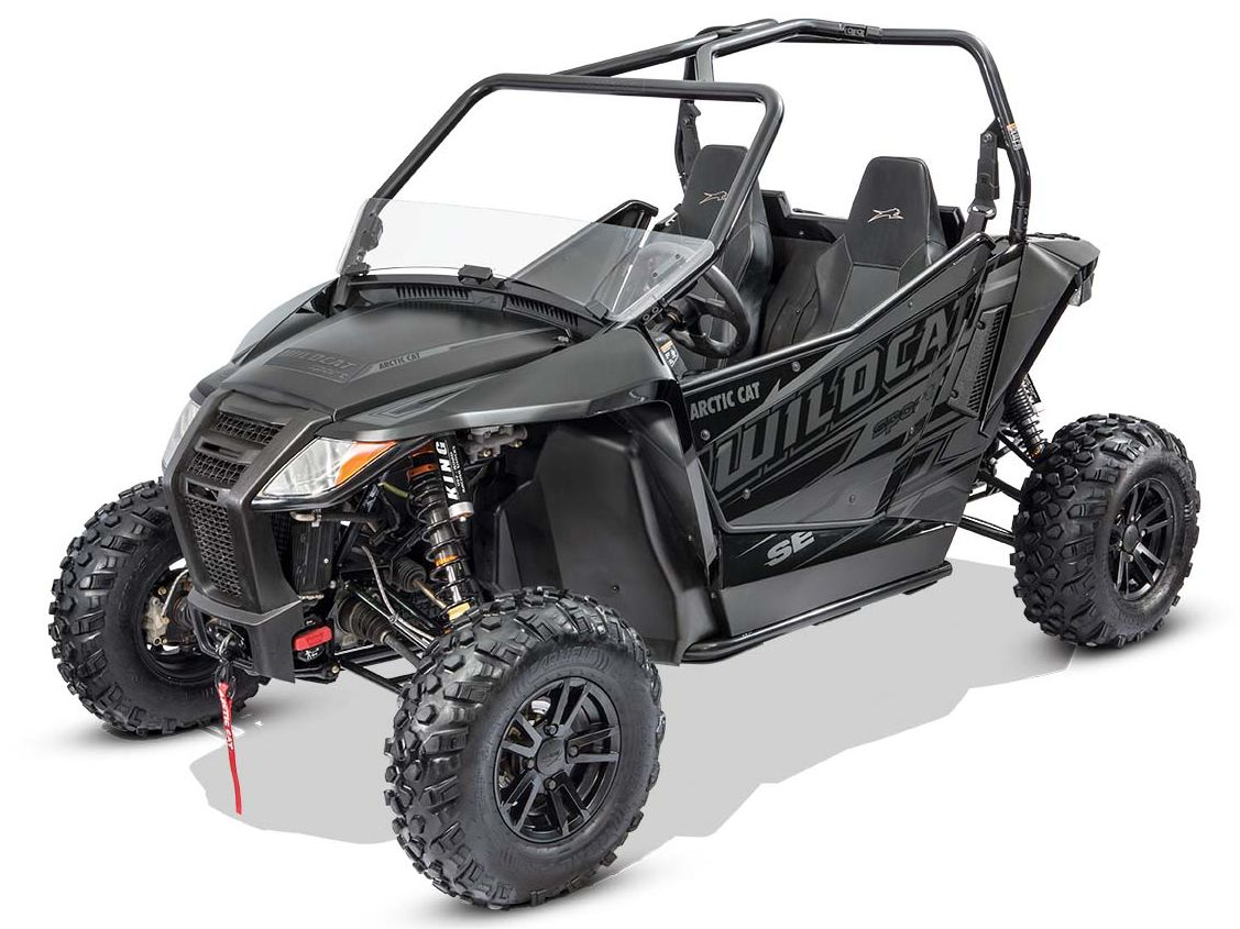 2017 Arctic Cat Wildcat SE black-on-black models.