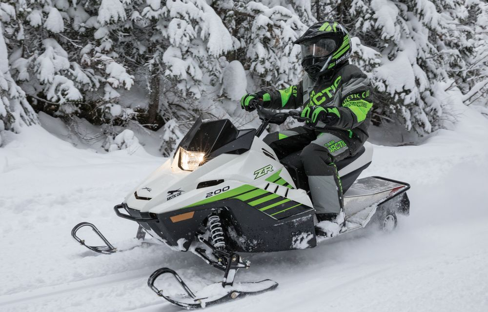 2018 Arctic Cat ZR 200 Youth Snowmobile. Shown at ArcticInsider.com
