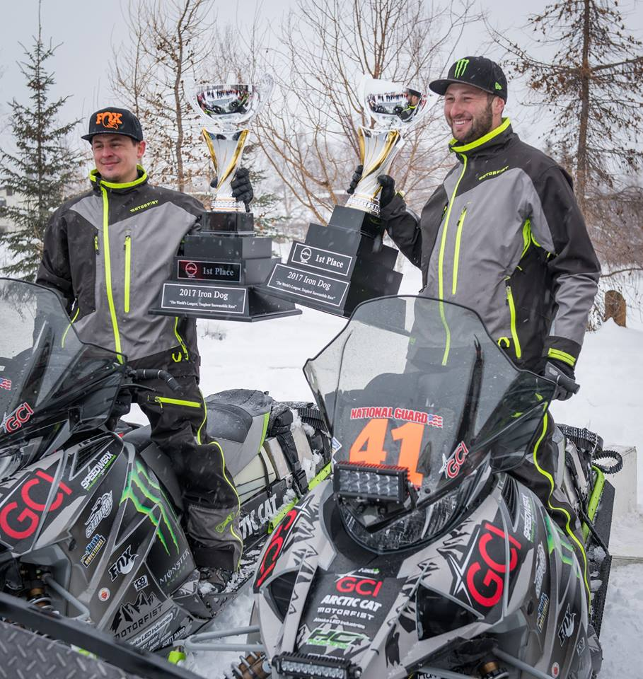 2017 Iron Dog. Champions Cory Davis and Ryan Simons. Photo from Iron Dog facebook.