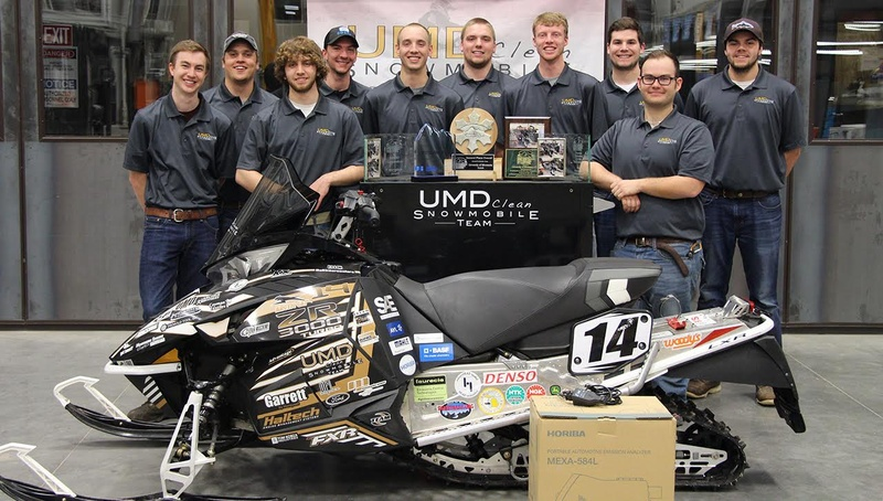 UMD Clean Snowmobile Challenge team.