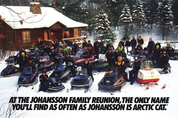 Classic Arctic Cat Johannson Family Reunion advertisement at ArcticInsider.com