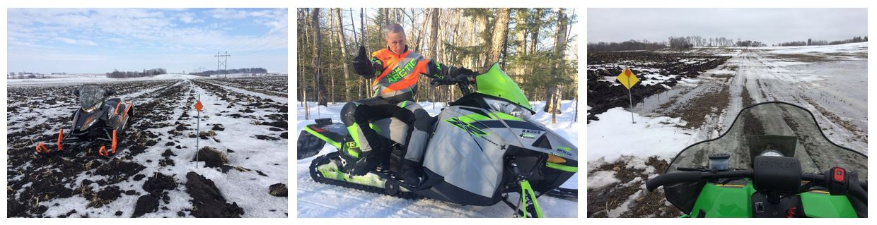 Not the best snowmobiling conditions this winter.