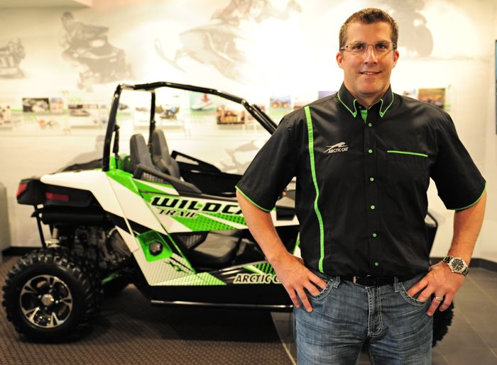 Arctic Cat's Craig Kennedy. Photo by ArcticInsider.com