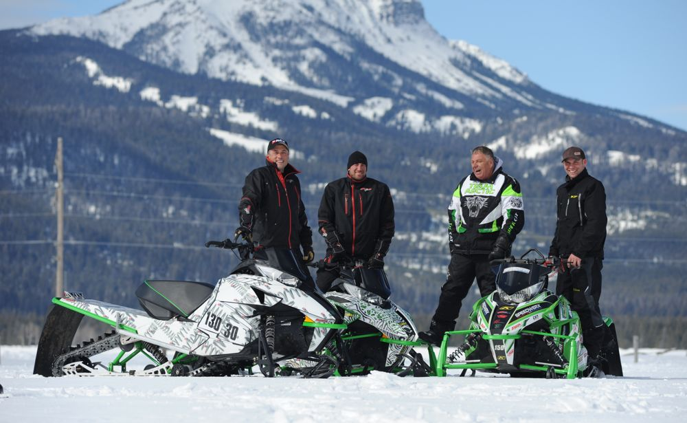 Team Arctic's Tupper, Kincaid, Shimpa & McClure. Photo by ArcticInsider.com