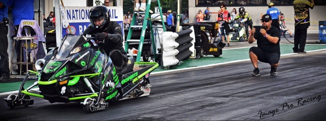 Team Arctic Cat's Glenn Hall and the Stilson Racing/Hypersports 9000 Turbo sled.