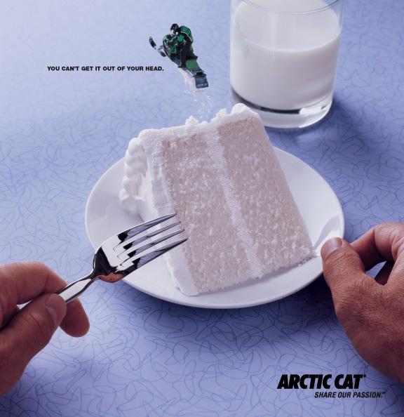 Arctic Cat snowmobile passion. Eat cake!