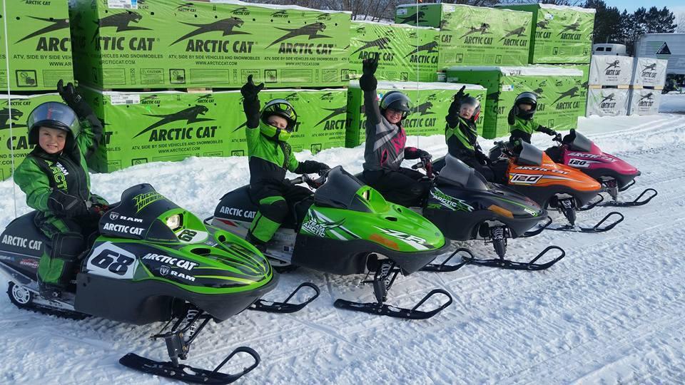 Kids on Arctic Cat ZR 120s