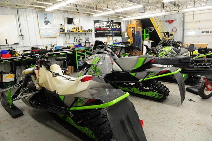 Team Arctic Cat race shop, getting ready for 2018. Photo by ArcticInsider.com