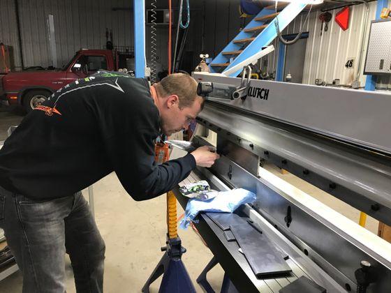 Team Arctic's Tucker Hibbert, working on race sled stuff for 2018. Photo: ArcticInsider.com
