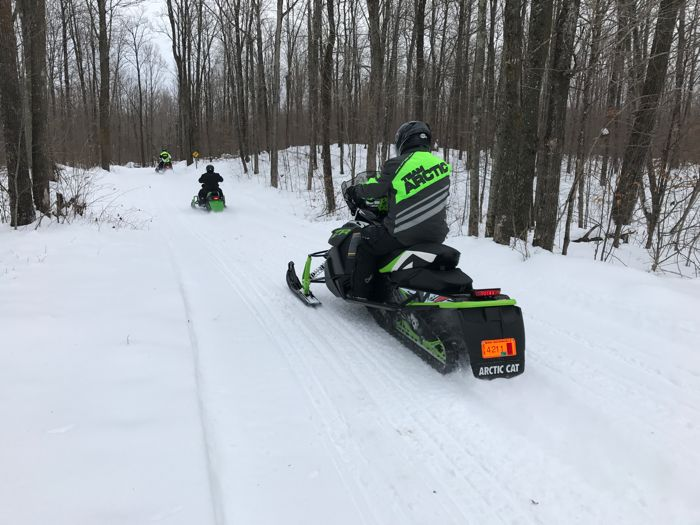 Pre-Christmas first ride of the snowmobile season. On Arctic Cat. ArcticInsider.com
